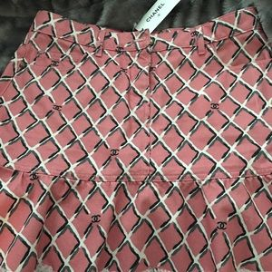 Chanel pink skirt